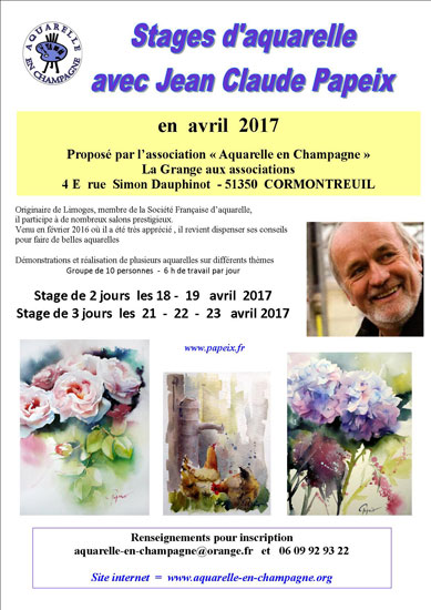 affiche stages Papeix2017
